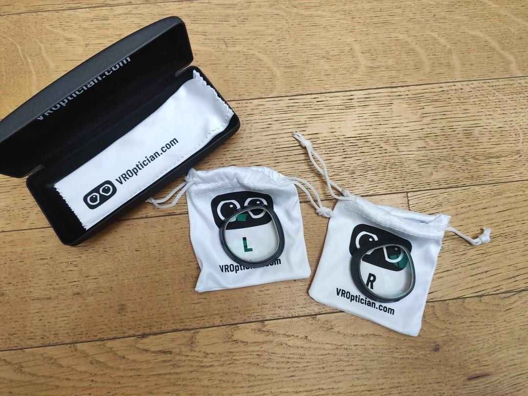 VR Optician unboxing lentilles pour casque réalité virtuelle
