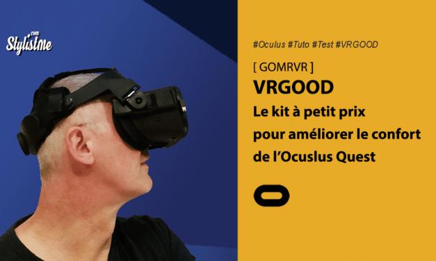 VRGOOD de GOMRVR un kit sangles réglables et mousse Oculus Quest