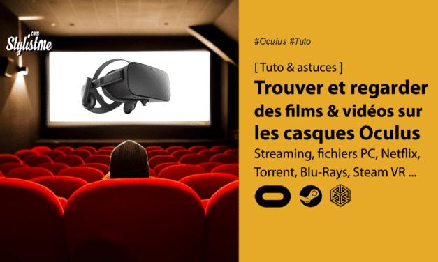 Trouver et regarder des films 2D 3D dans l'Oculus Quest