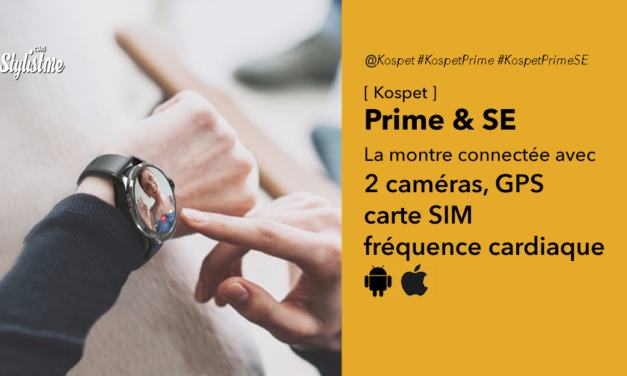 Kospet Prime la montre connectée avec téléphone et 2 caméras