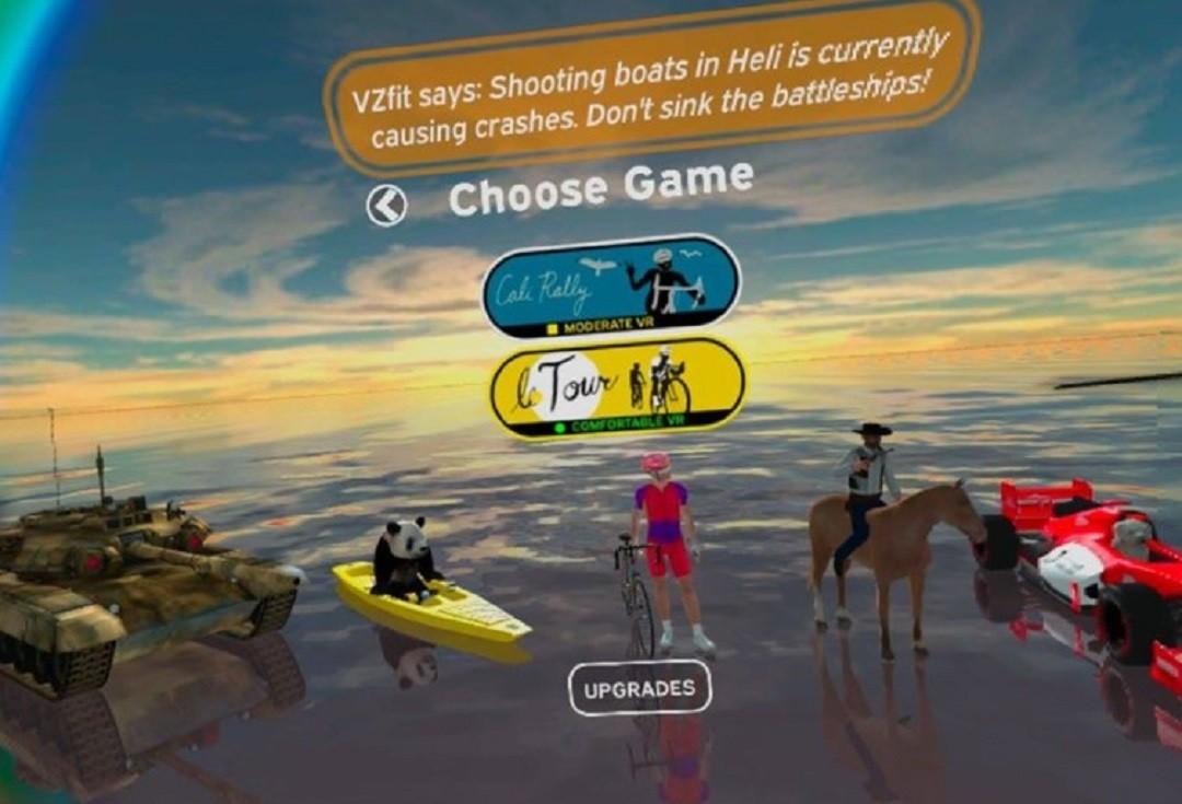 VZFit Play course Velo Oculus Quest avec velo appartement