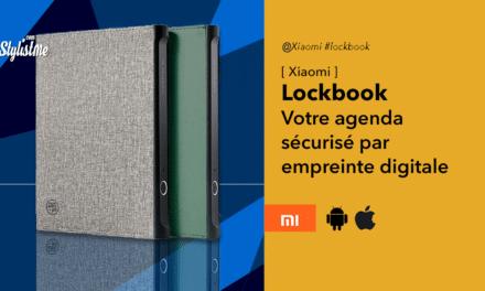 Xiaomi Lockbook Pro votre agenda sécurisé par votre empreinte digitale