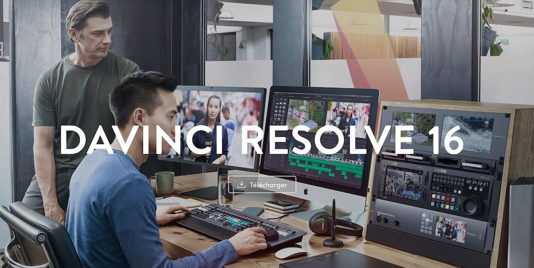 logiciel gratuit pour créer vidéo YouTube DaVinci Revolve