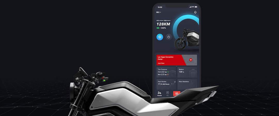 NUI moto électrique connectée