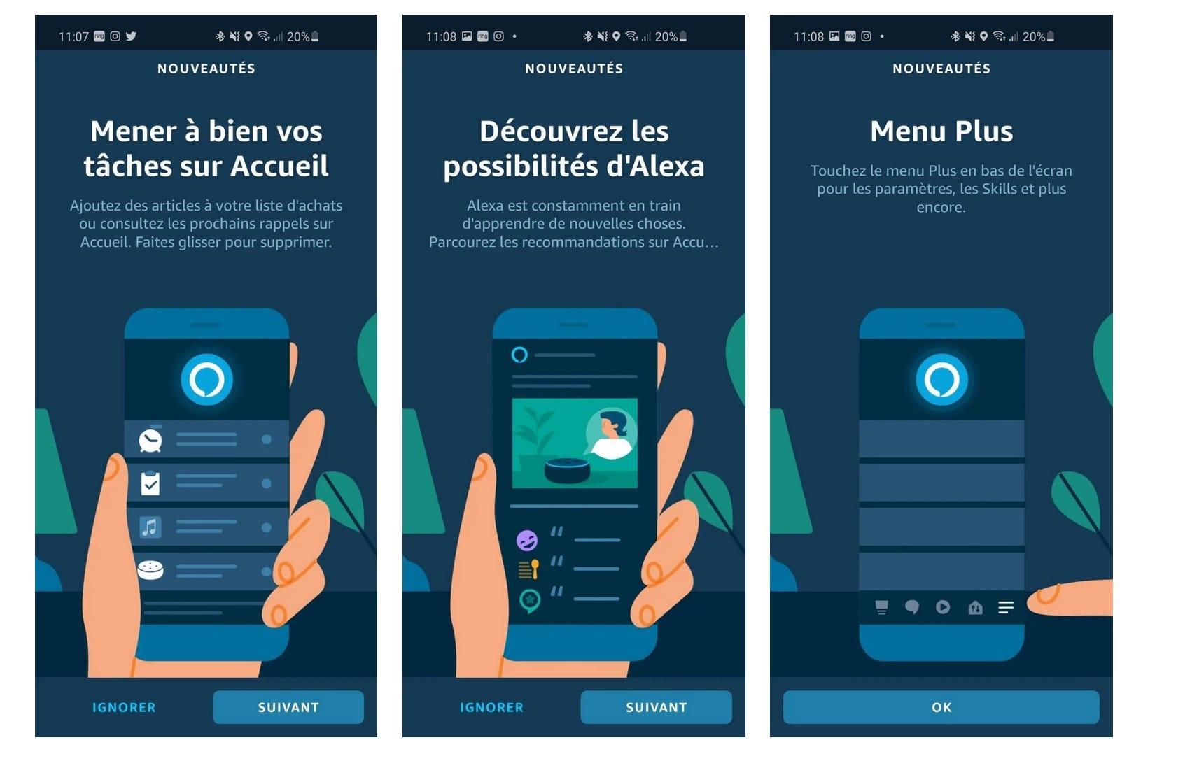App Alexa nouveautés juillet 2020