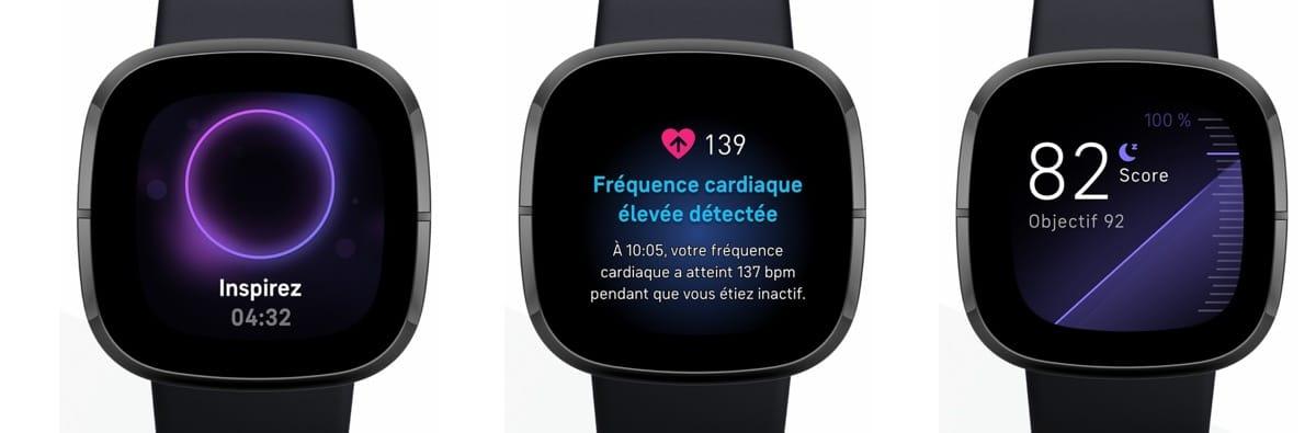 Fitbit Sense montre santé connectée
