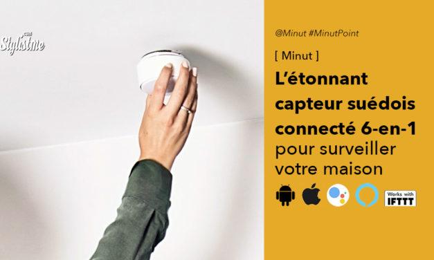 Minut Point le détecteur connecté 6-en-1  avec sirène pour surveiller votre maison