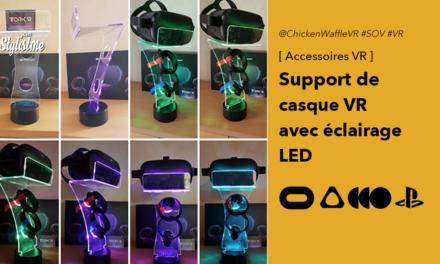 Socle VR avec éclairage LED pour casque réalité virtuelle