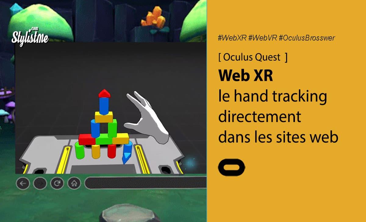 Web XR hand tracking Oculus Quest