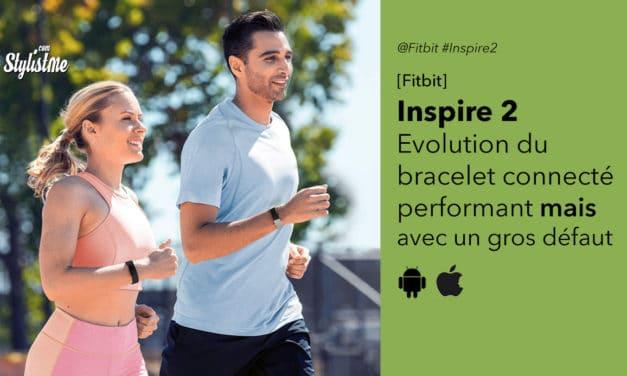 Fitbit Inspire 2 bracelet connecté complet qui s'améliore