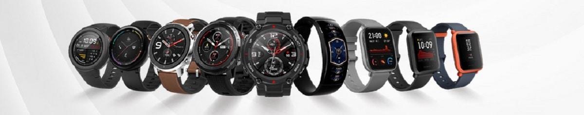 Gamme Amazfit montres et braceletsconnectés
