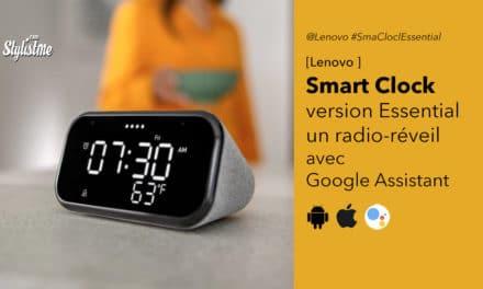 Lenovo Smart Clock Essential un radio réveil Google Assistant