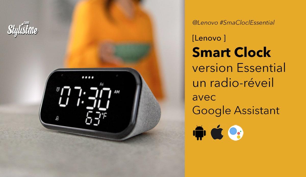 Lenovo Smart Clock Essential avis test prix