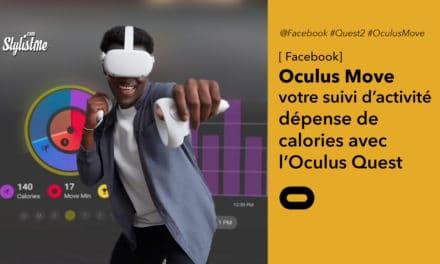 Oculus Move un suivi d'activité physique dans l'Oculus Quest 2