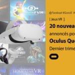 Oculus Quest 2 les nouveaux jeux annoncés lors de Facebook Connect