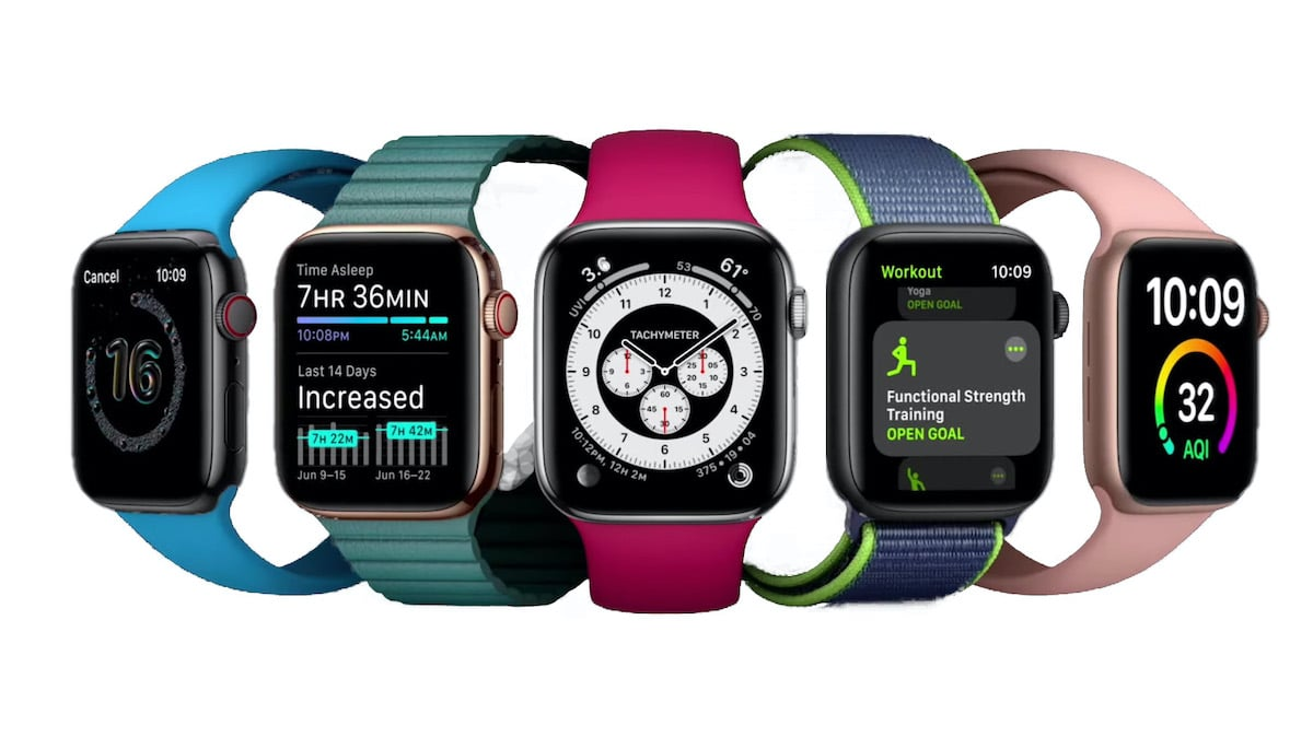 Suivi santé ECG SpO2 Apple Watch 6