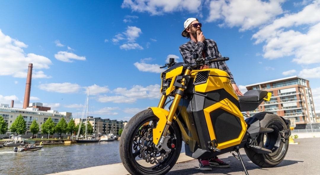 Verge TS meilleure moto électrique moteur jante arrière
