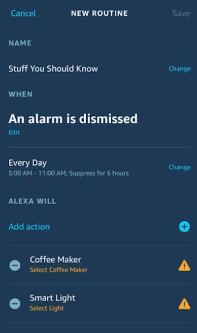 adapter routine Alexa partagée