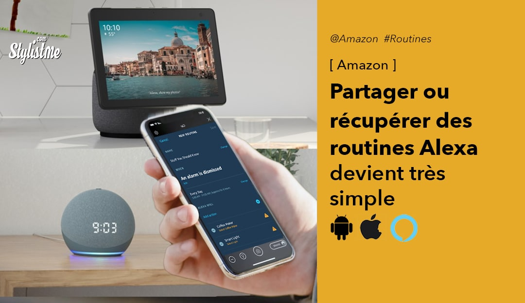 Comment partager routines Alexa