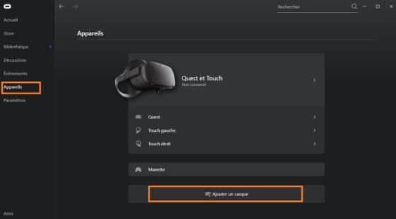 Configuration Oculus Quest 2 deuxième casque