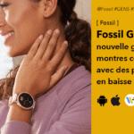 Montre Fossil Gen 5E sous Wear OS design amélioré et prix en baisse