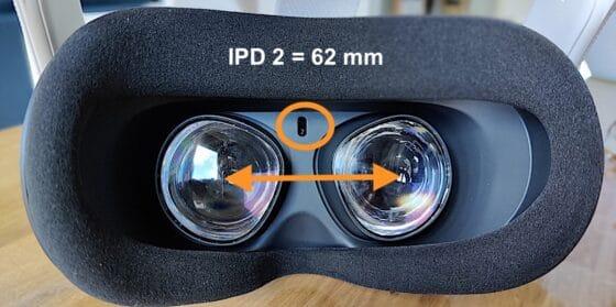 IPD oculus Quest mesure