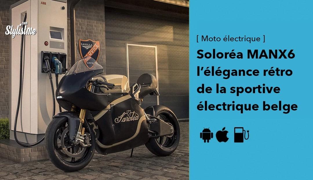 Saroléa MANX7 la moto sportive électrique rétro Belge