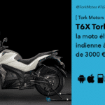 T6X Tork la version indienne de la moto électrique à 3000 euros