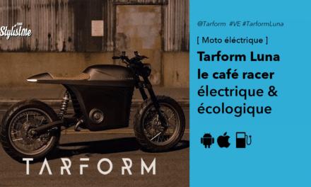 Tarform Luna le pure style café racer en moto électrique 100% écolo