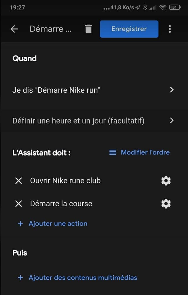 routine vocale Google Assistant app Android