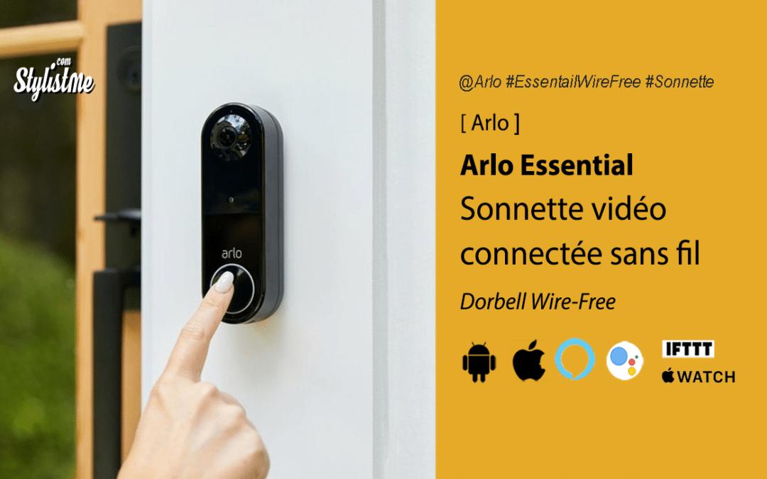 Sonnette vidéo Arlo Essential nouvelle version sans fil