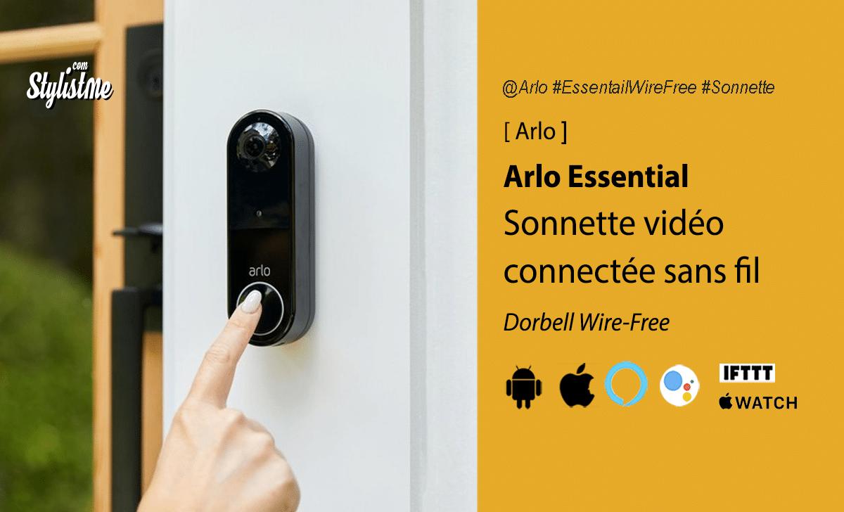 Arlo Essential sonnette vidéo sans fil Wire Free