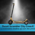 Ducati City Cross-E off road Edition la trottinette entre route et chemin