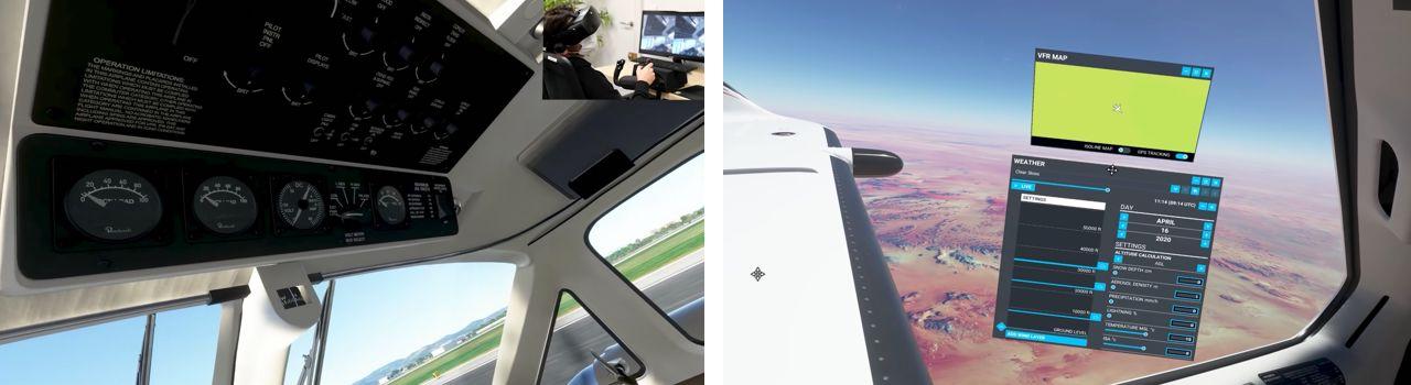 Flight Simulator 2020 VR contrôles