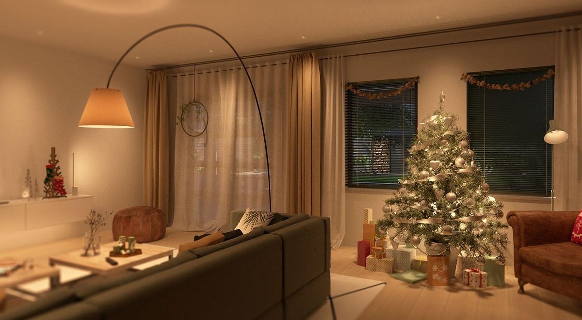 éclairage connecté Noël sapin