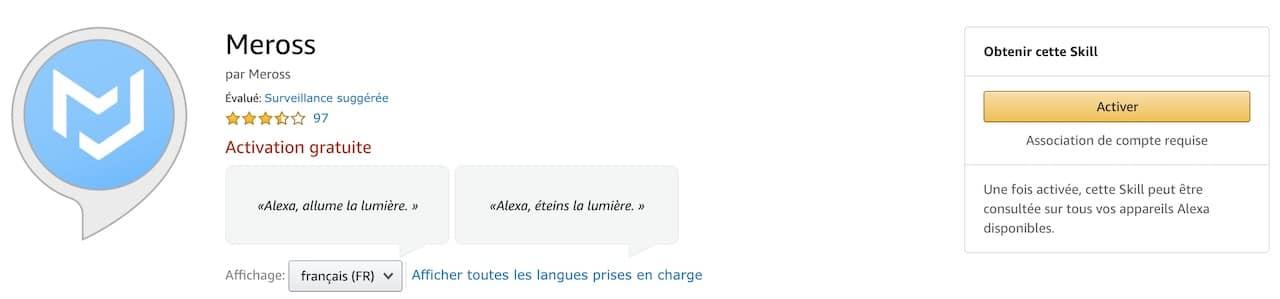 App Meross Alexa