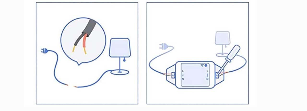 Installation Meross smart Wi-Fi switch