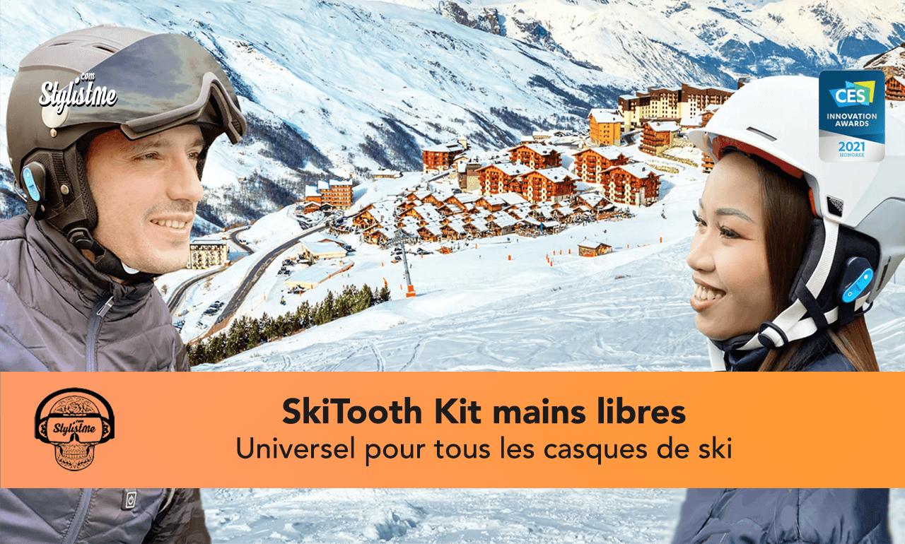 Skitooth kit main libre casque ski
