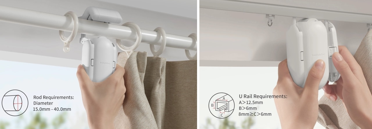 SwitchBot curtain Rail ou Rod