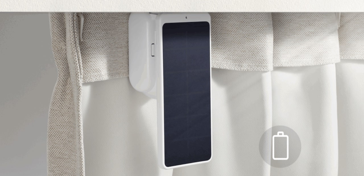rideau connecté panneau solaire SwitchBot