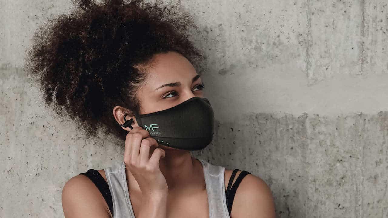 MaskFone masque Covid connecte avec écouteur