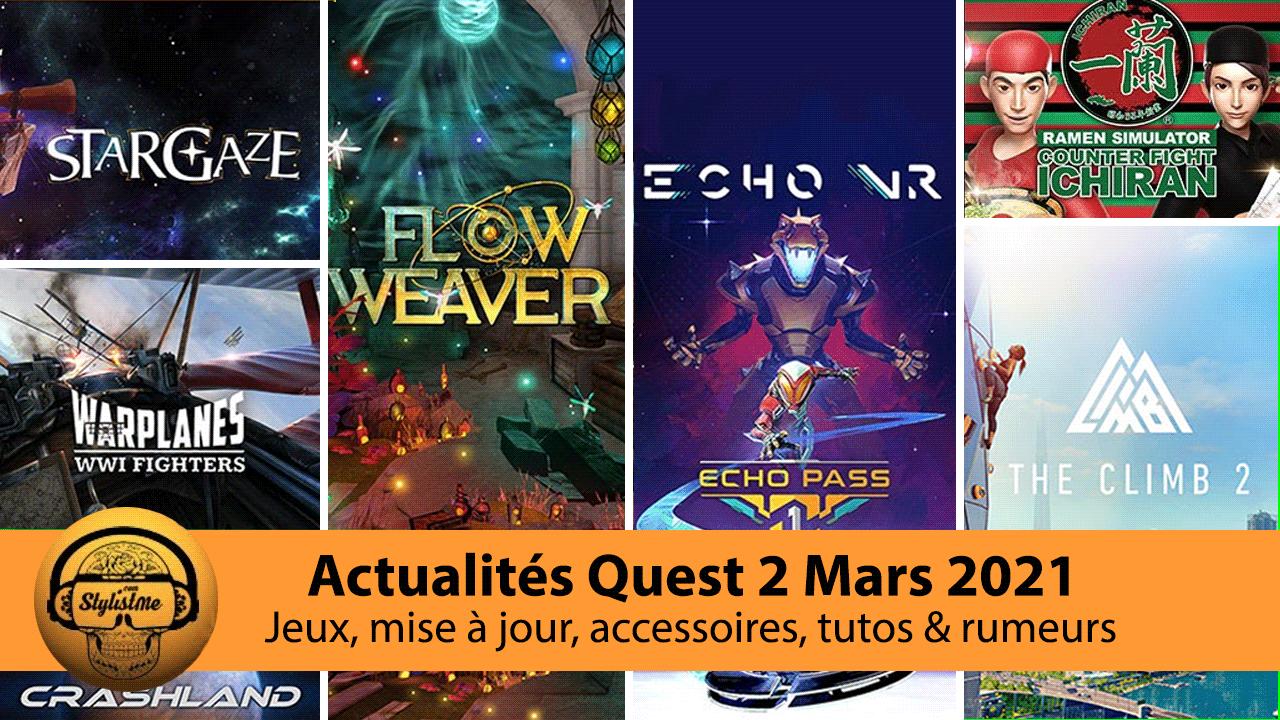 Actualités Quest 2 mars 2021