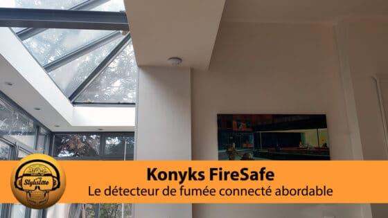 Konyks FireSafe test et avis du détecteur de fumée connectée