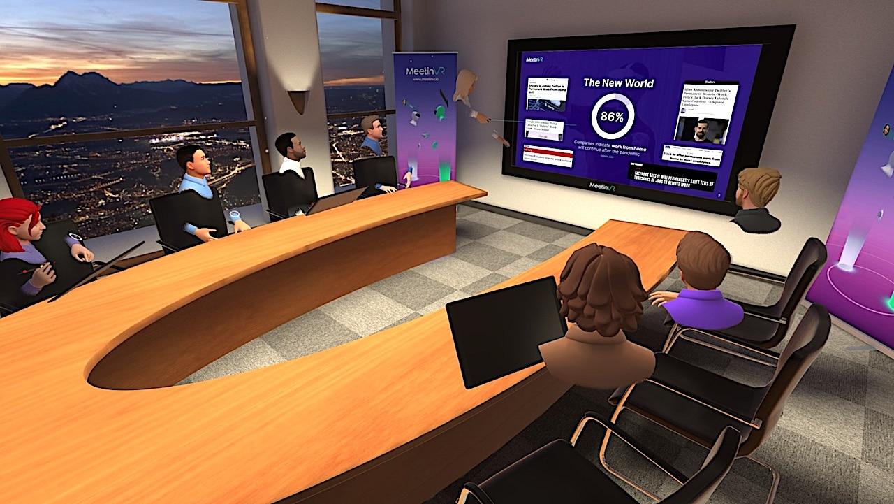 MeetinVR réunion en réalité virtuelle Quest
