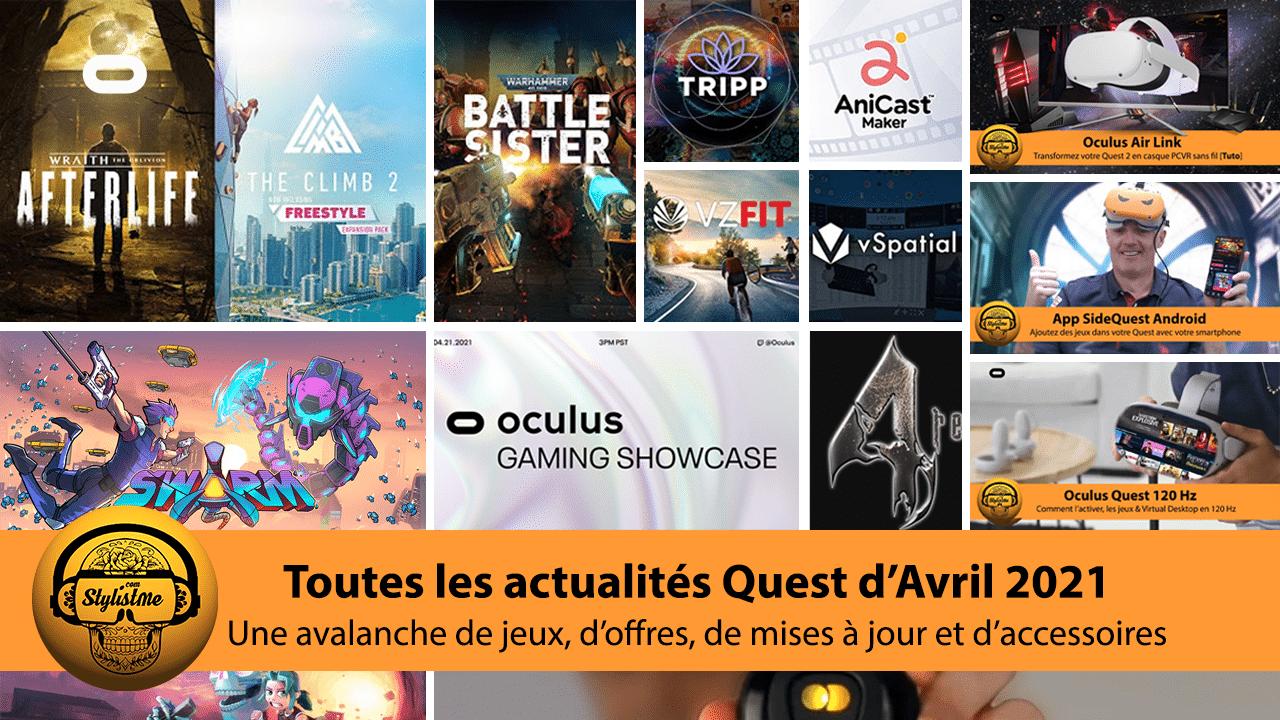 Actualités Quest avril 2021 Oculus