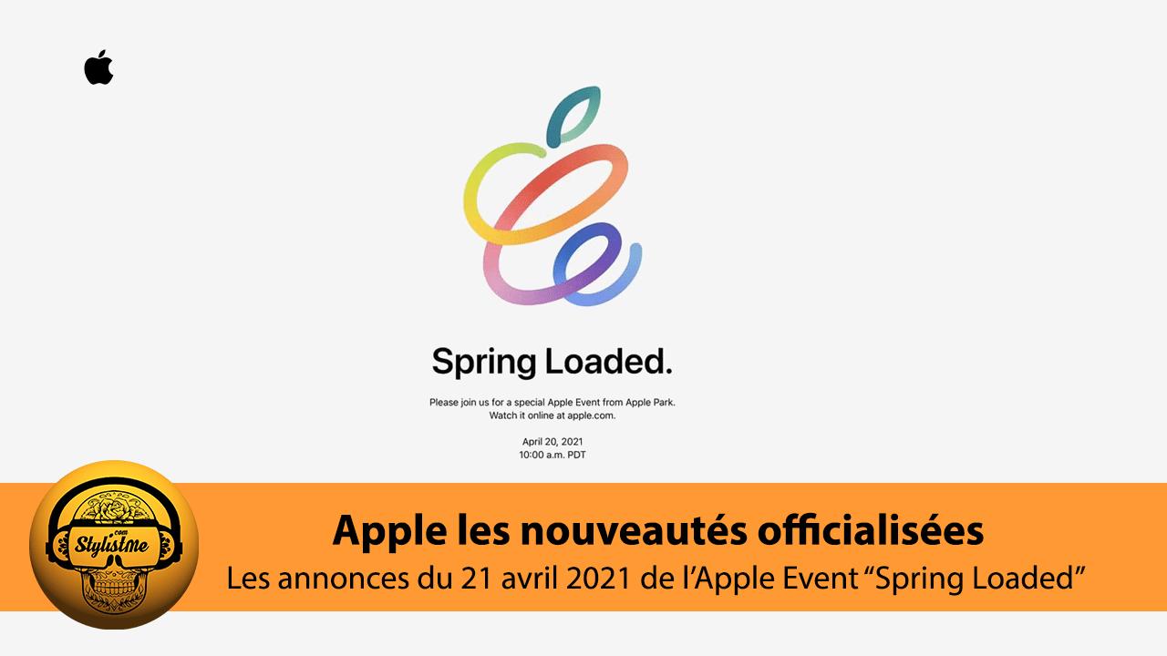 Apple Event 20 avril 2021 nouveautés et annonces officielles