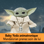 Baby Yoda animatronique comme Mandalorian protéger l'enfant