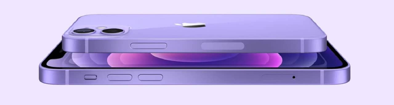 IPhone 12 violet printemps 2021