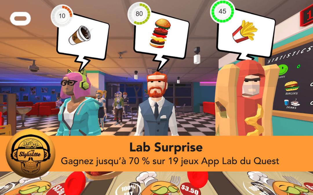 Lab Surprise gagner des réductions sur l'App Lab jusqu'au 8 mai
