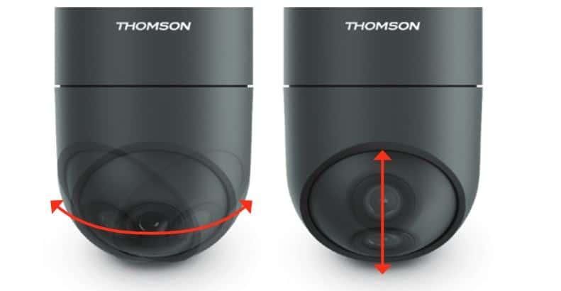 Camera surveillance connectée Thomson angle